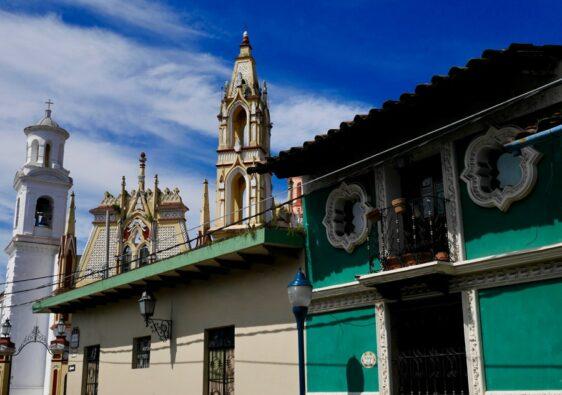 Une église dans la ville de Coatepec au Mexique