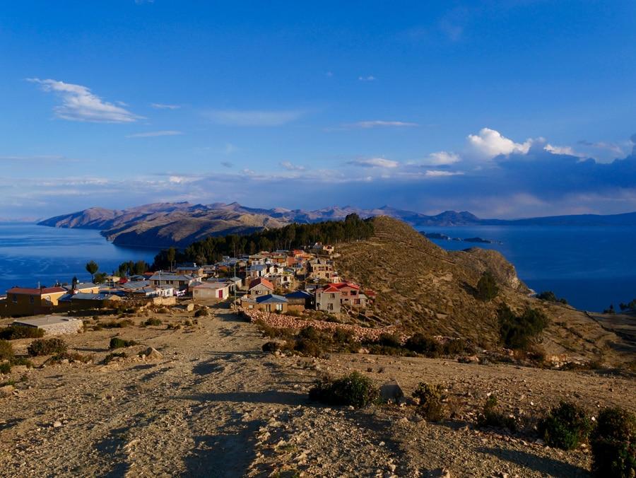 Yumani, au sommet d'Isla del Sol en Bolivie