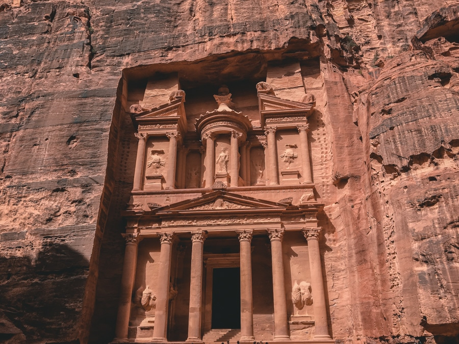 Le Trésor, célèbre tombeau à Pétra en Jordanie