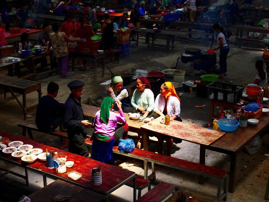 Marché d'Ha Giang au Vietnam