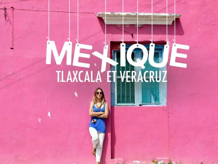 Maison rose au Mexique dans les états de Tlaxcala et Veracruz