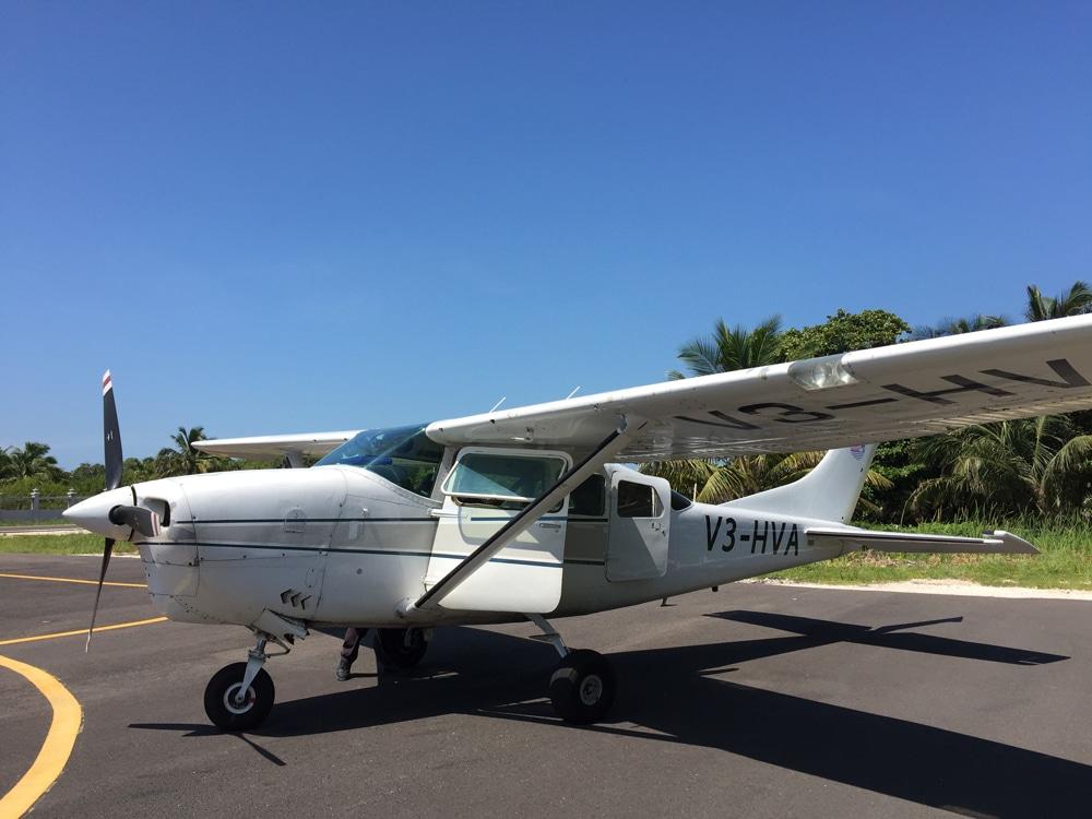 Avion pour scenic flight au Belize