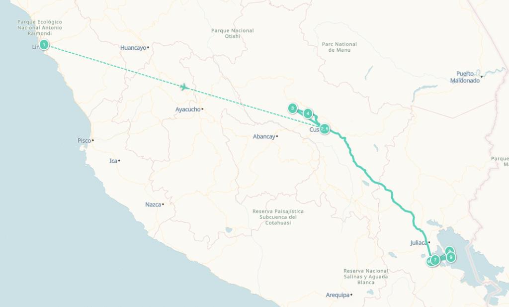 Itinéraire voyage Pérou