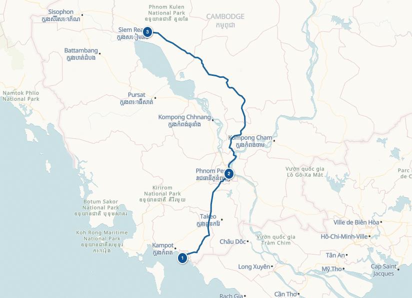 Itinéraire voyage Cambodge