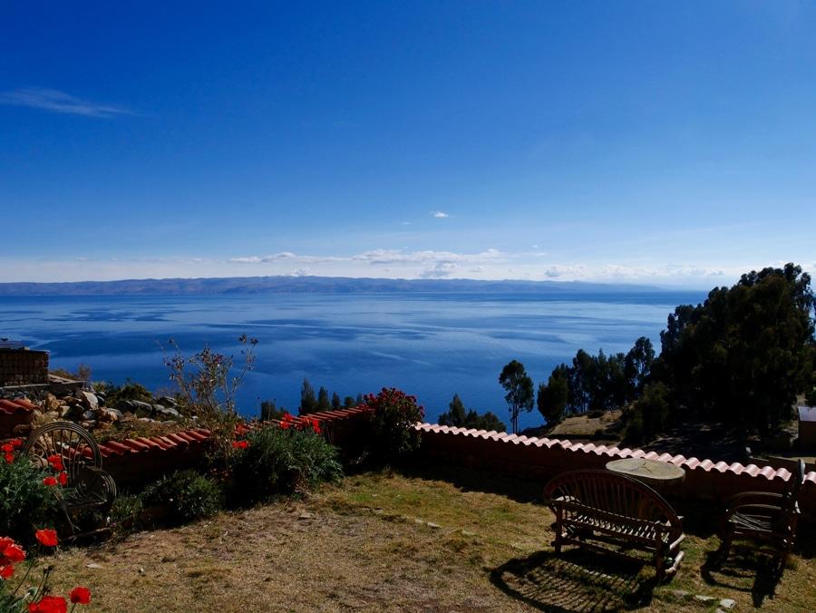 Point de vue sur le Lac Titicaca