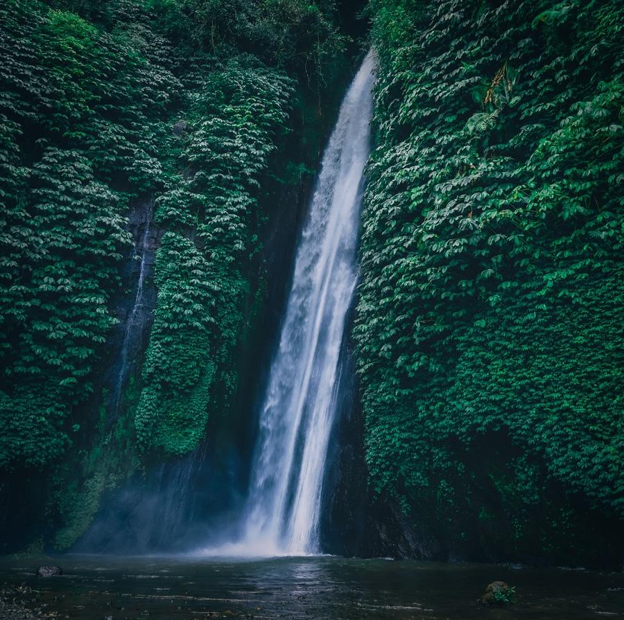 La cascade de Laagan Munduk Bali