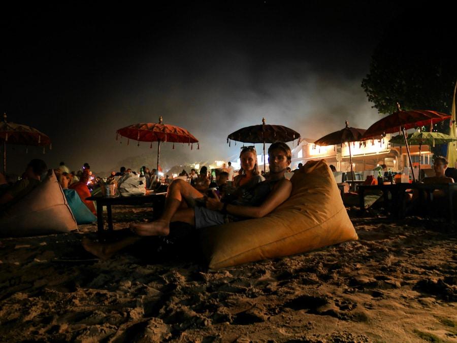 Soirée sur la plage de Jimbaran à Bali