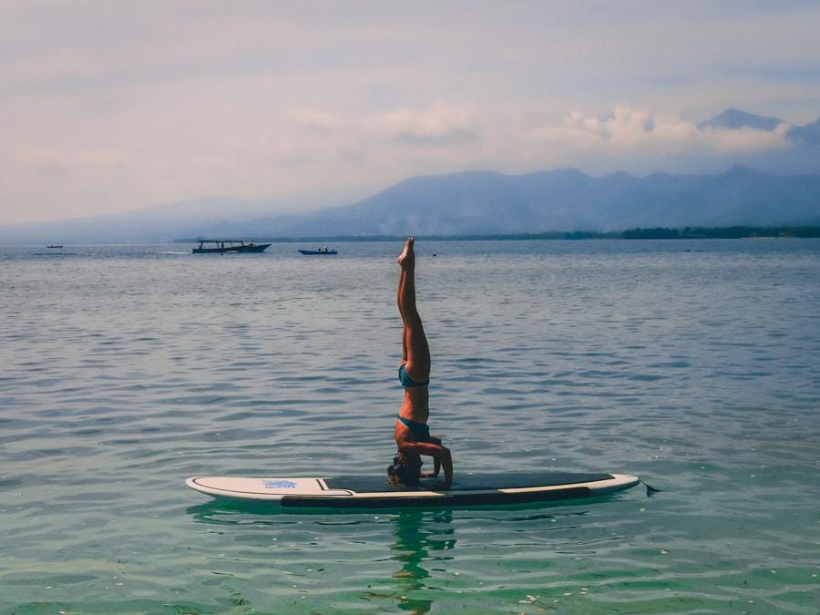 Yoga Paddle à Gili Air en Indonésie