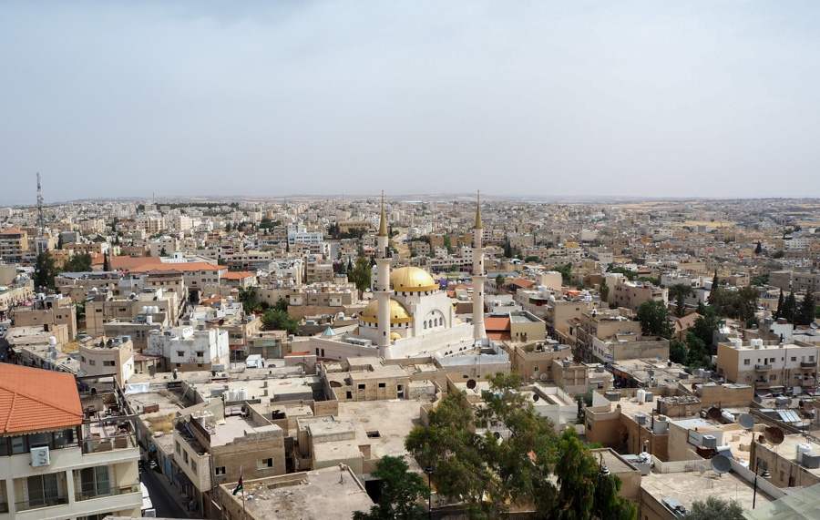 La ville de Madaba en Jordanie
