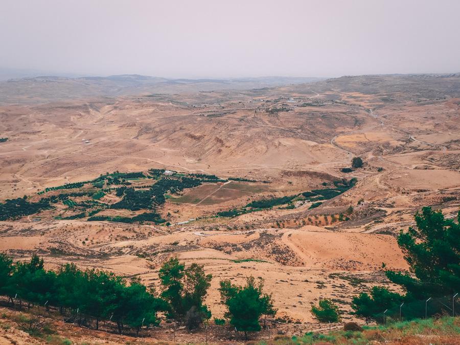 Vue depuis le Mont Nebo en Jordanie
