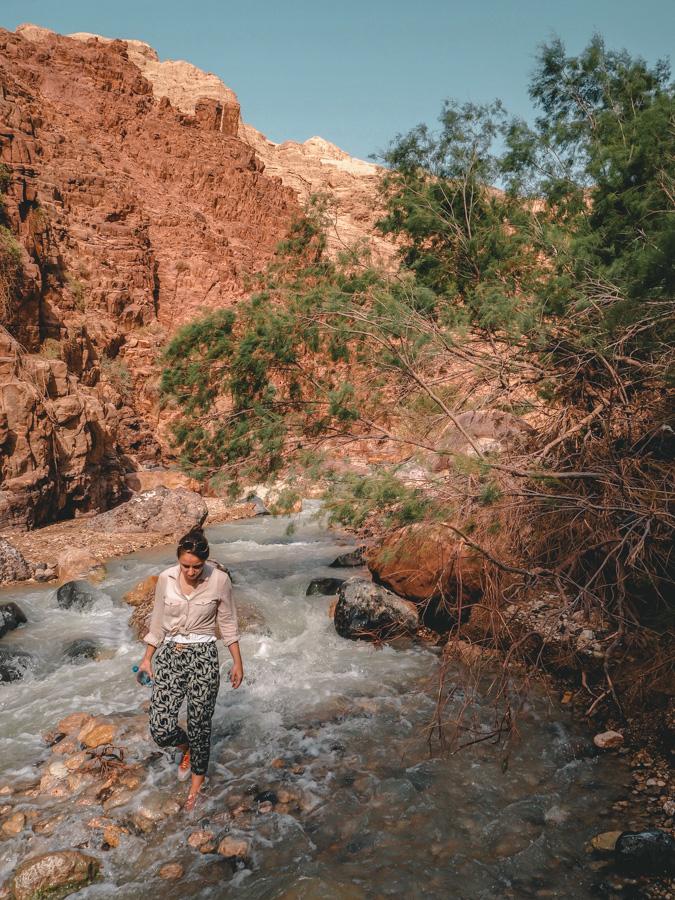 Marche dans le Wadi Zarqa Ma'in
