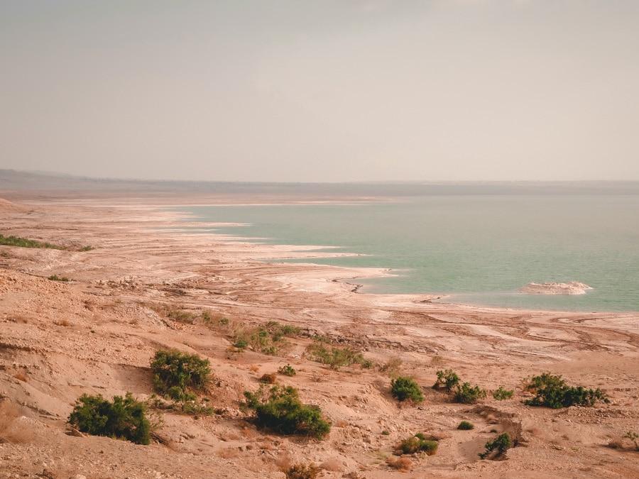 Les rives de la Mer Morte en Jordanie